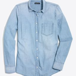 J.Crew Women's Button Down Shirts LOVERS - Lovers Lane Wash Chambray Button-Up - Women | Zulily