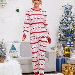 Christmas Print Pajama Set | SHEIN