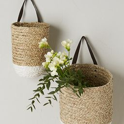 Braided Hanging Basket By Anthropologie in Beige Size S | Anthropologie (US)