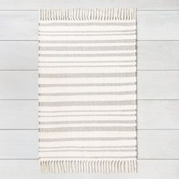 2'x3' Rug with Fringe Gray - Hearth & Hand with Magnolia, Adult Unisex, Size: 2'x'3' | Target