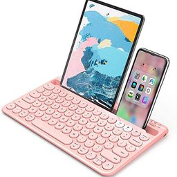 Bluetooth Keyboard, Jelly Comb Multi-Device Universal Bluetooth Rechargeable Keyboard with Integr... | Amazon (US)