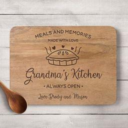 Grandmas Kitchen Cutting Board, Grandmas Kitchen Sign, Grandma Gift, Personalized Cutting Board, ... | Etsy (US)