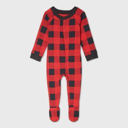Baby Holiday Buffalo Check Flannel Matching Family Footed Pajama - Wondershop™ Red | Target