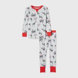 Toddler Holiday Safari Animal Print Matching Family Pajama Set - Wondershop™ Gray | Target