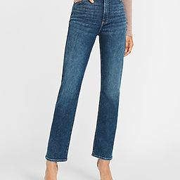 Super High Waisted Faded Modern Straight Jeans | Express