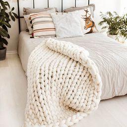 Chunky Blanket Chunky Knit Blanket Throw Blanket Blanket   Etsy   Etsy (US)