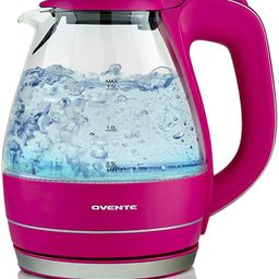 Ovente Electric Hot Water Portable Glass Kettle with Filter 1.5 Liter Stainless Steel Base Counte... | Amazon (US)