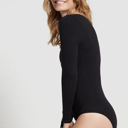 Long Sleeve Cotton Shaping Full Back Bodysuit | Yummie
