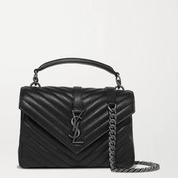 College medium quilted textured-leather shoulder bag | Net-a-Porter (US)