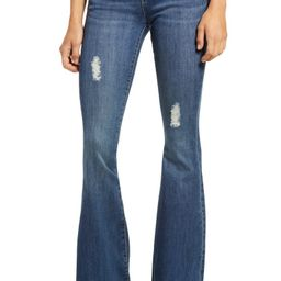 Faith Distressed Flare Jeans | Nordstrom