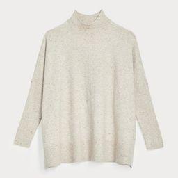 Petite Flecked Rib Trim Poncho Sweater | LOFT
