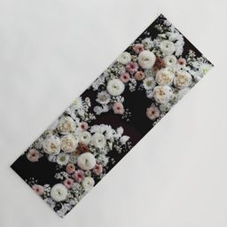 White Peonies in Bloom Yoga Mat | Society6