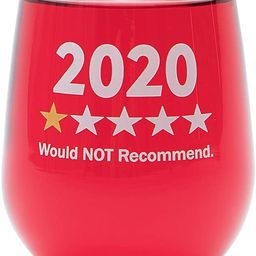 """Funny Wine Glass Gift-""""2020 One Star, Would NOT Recommend"""" - 17 Oz Stemless Wine Glass (2020-1 St... 