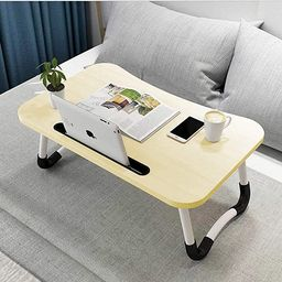 Hossejoy Foldable Laptop Table, Portable Standing Bed Desk, Breakfast Serving Bed Tray, Notebook ...   Amazon (US)