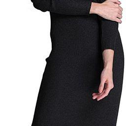 Rocorose Women's Turtleneck Ribbed Long Sleeve Knitted Sweater Dress | Amazon (US)