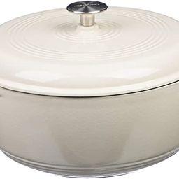 AmazonBasics Enameled Cast Iron Dutch Oven, 7.5-Quart, White | Amazon (US)