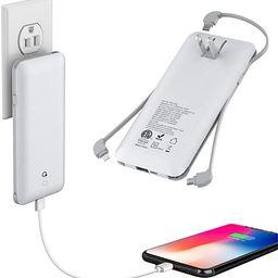 10000mAh Q Portable Charger, Ultra Slim USB C Power Bank, 4 Output Dual Input External Battery Pa... | Amazon (US)