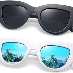 Joopin Retro Polarized Cateye Sunglasses - Women Vintage Cat Eye Sun Glasses UV400 Protection | Amazon (US)