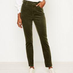 High Waist Skinny Corduroy Pants   LOFT