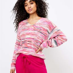 Lou & Grey Spacedye V-Neck Sweater   LOFT