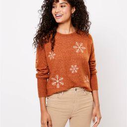 Snowflake Sweater   LOFT
