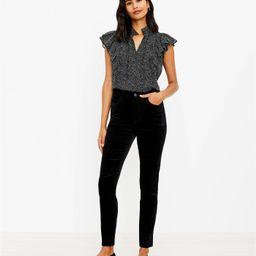 High Rise Skinny Velvet Pants   LOFT