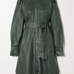 Lavare belted leather shirt dress | Net-a-Porter (US)