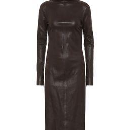Leather midi dress | Mytheresa (US)