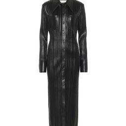 Lee pleated faux leather shirt dress | Mytheresa (US)