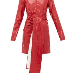 Crocodile-effect faux-leather dress | Matchesfashion (Global)
