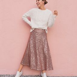 Sequin Midi Skirt   LOFT