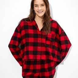 AEO Plaid Flannel Short PJ Set   American Eagle Outfitters (US & CA)