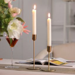 Gold Metal Candlestick Holders, Taper Candle Holders Decorative Candle Stand | Walmart (US)