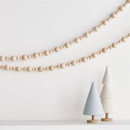 Wood Bead Christmas Garland + Reviews | Crate and Barrel | Crate & Barrel
