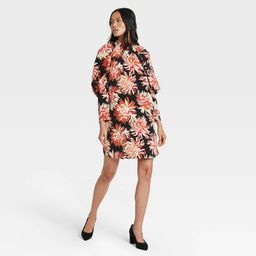 Women's Floral Print Puff Long Sleeve Dress - Who What Wear™ | Target