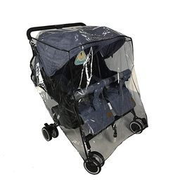 Twins Stroller Raincoat for Side by Side Stroller Weather Shield, Double Stroller Rain Cover/Wind... | Amazon (US)