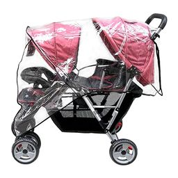 Aligle Weather Shield Double Popular for Swivel Wheel Stroller Universal Size Baby Rain Cover/Win... | Amazon (US)