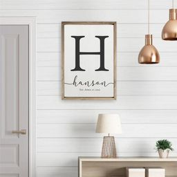 Personalized Printed Wood Family Name Sign With Established Date (Framed) | Etsy (US)