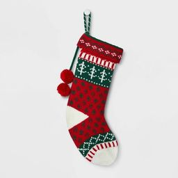 Fair Isle Pattern Christmas Stocking Red - Wondershop™ | Target