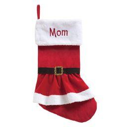 Elf, Santa Or Mrs. Claus Dress Personalized Christmas Stocking | Walmart (US)