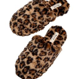 Leopard Recycled Faux Fur Quilted Scuff Slippers | Nordstrom