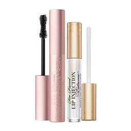 Too Faced Better Than Sex Mascara & Lip Injection Extreme Lip Plumper | HSN