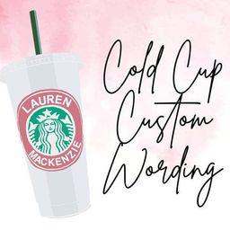 CUSTOM Starbucks Venti Cold Cup, Personalized Christmas Gift, Christmas for Her, Christmas Gift f...   Etsy (US)