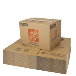 The Home Depot Medium Moving Box 25-Pack (22 in. L x 16 in. W x 15 in. D)   The Home Depot
