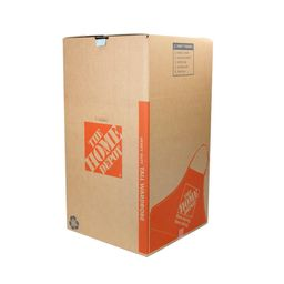 The Home Depot Heavy-Duty Tall Wardrobe Moving Box with Metal Hanging Bar and Handles (24 in. L x 24   The Home Depot