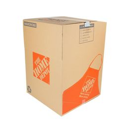 The Home Depot Wardrobe Moving Box with Metal Hanging Bar and Handles (24 in. L x 24 in. W x 34 in.    The Home Depot