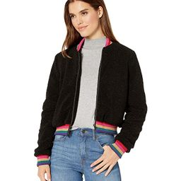 Spiritual Gangster SG Furry Bomber Jacket (Everything - Vintage Black) Women's Clothing   Zappos