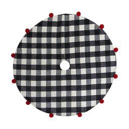 St. Nicholas Square® Buffalo Plaid Pom Poms Christmas Tree Skirt | Kohl's