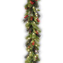 9-ft. Pre-Lit Glitter Bristle, Pinecones & Berry Crestwood Spruce Christmas Garland | Kohl's