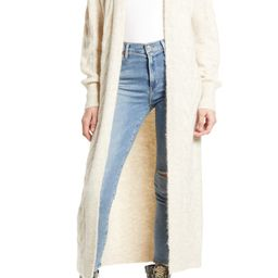 Cozy Cable Knit Longline Cardigan   Nordstrom